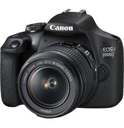 Reflex Canon EOS 2000D + objectif EF-S 18-55mm (2728C002AA)