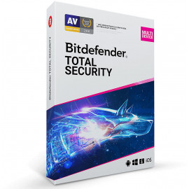 Bitdefender Total Security - 3 Postes / 1 an (CR_TS_3_12EXFR)