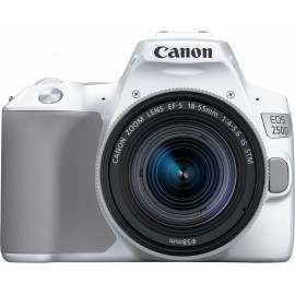 Canon EOS 250D, blanc + objectif EF-S 18-55mm f/4-5.6 IS STM (3458C001AA)