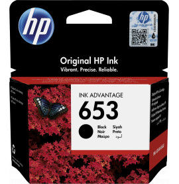 HP 653 noir - Cartouche d'encre HP d'origine Ink Advantage (3YM75AE)