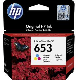 HP 653 Couleur - Cartouche d'encre HP d'origine Ink Advantage (3YM74AE)