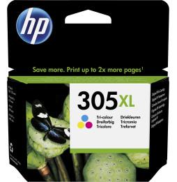 HP 305XL trois couleurs - Cartouche d'encre grande capacité HP d'origine (3YM63AE)
