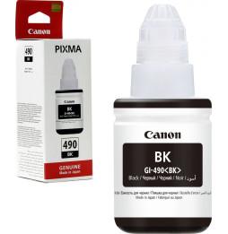 Canon GI-490 BK Noir - Bouteille d'encre Canon d'origine (0663C001AB)