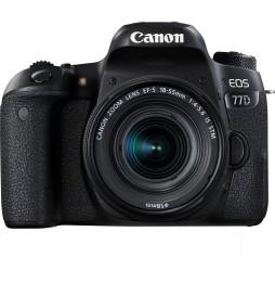 Appareil Photo Reflex Canon EOS 77D + objectif EF-S 18-55 IS(1892C017BA)