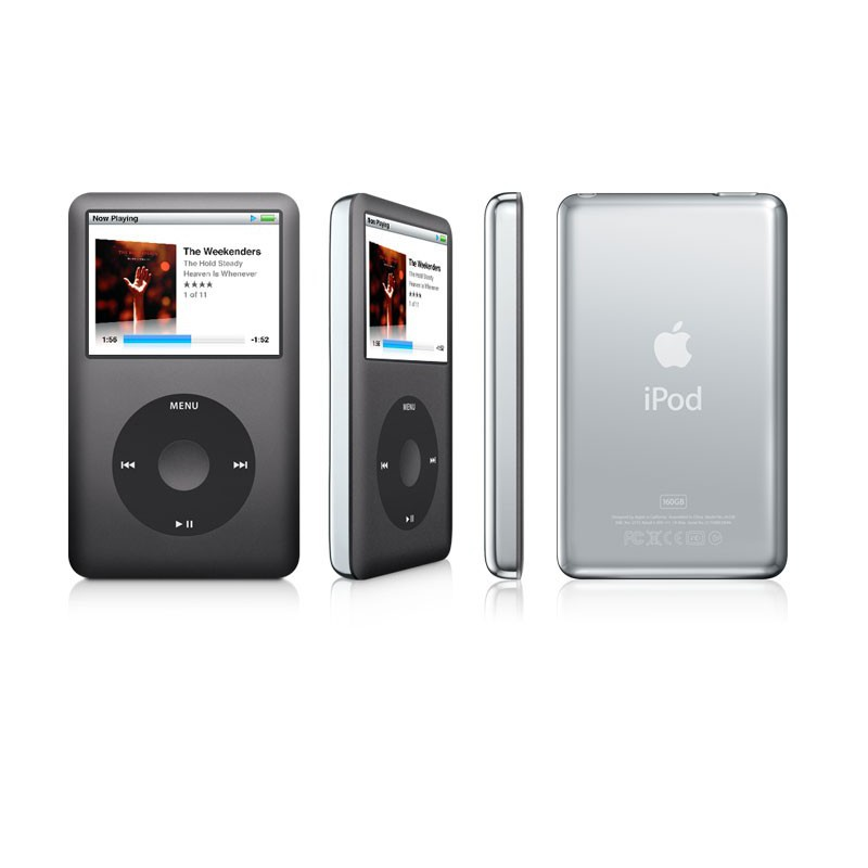 ipod classic 160gb d 39 apple 6 me g n ration noir iris. Black Bedroom Furniture Sets. Home Design Ideas