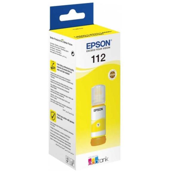 Epson 112 Jaune - Bouteille d'encre Epson EcoTank d'origine (C13T06C44A)