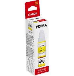 Canon GI-490 Jaune - Bouteille d'encre Canon d'origine (0666C001AB)