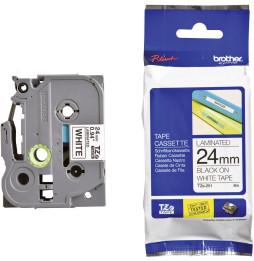 Cassette à ruban Brother TZe-251 - Noir sur blanc, 24 mm de large / 8 m de long