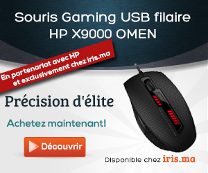 Souris Gaming USB filaire HP X9000 OMEN (J6N88AA)